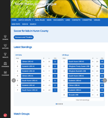 North Huron Soccer League - screenshot