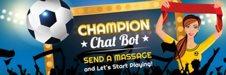 Champion - the 1st football betting chatbot!