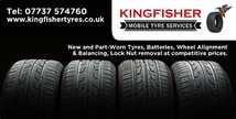 Kingfisher mobile tyre