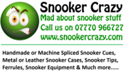 <h2>Snooker Crazy</h2><h3><strong> Sponsors of the Division 1 Knockout Cup<strong></h3>