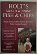 Holts Award Winning Fish & Chips