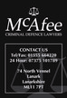 McAfee Criminal Defense Lawyers