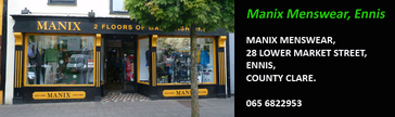 Manix Menswear, Ennis